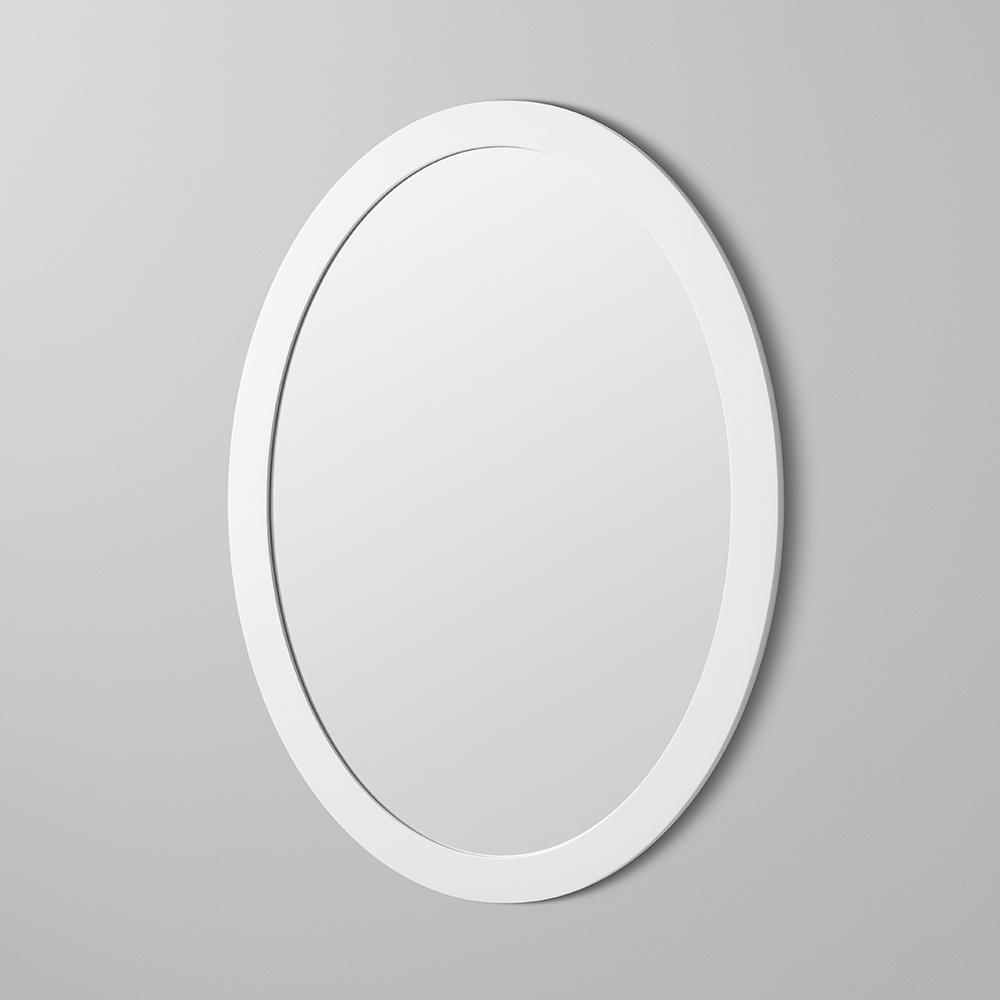 23 Quot Contemporary Solid Wood Framed Oval Bathroom Mirror