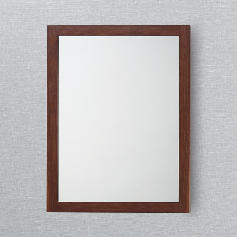 24 Alina Contemporary Solid Wood Framed Bathroom Mirror