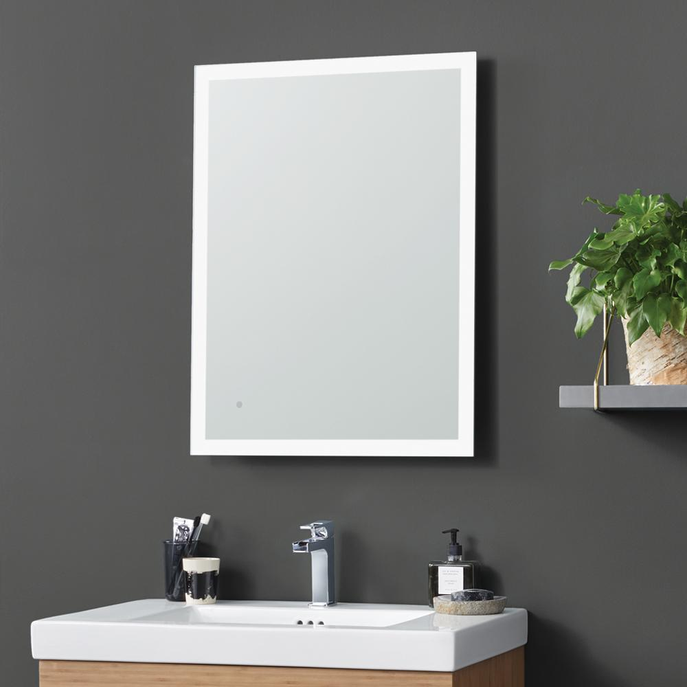 24 Quot Webster Contemporary Metal Framed Bathroom Mirror With
