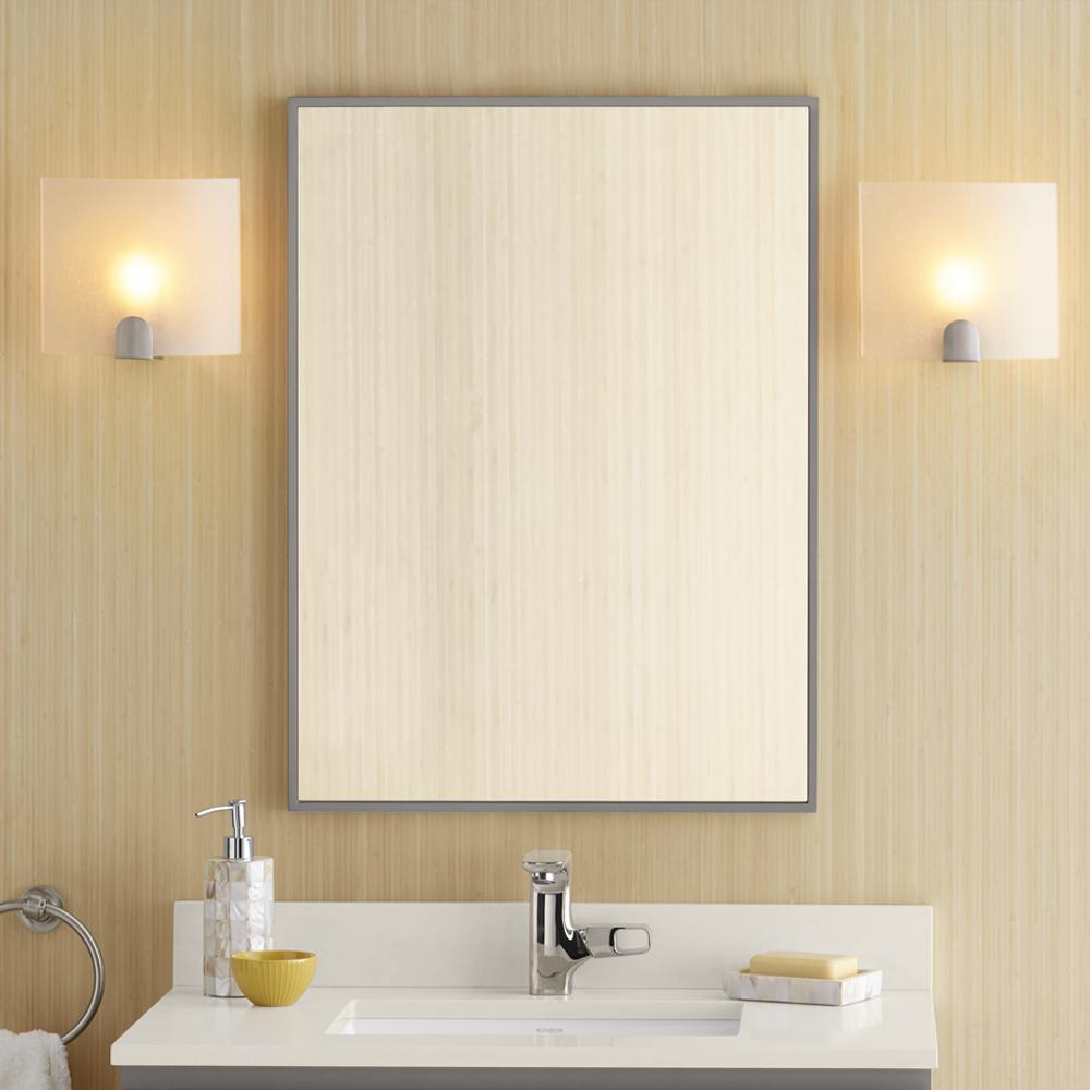 contemporary mirrors for bathroom 23 quot contemporary solid wood framed bathroom mirror 17871