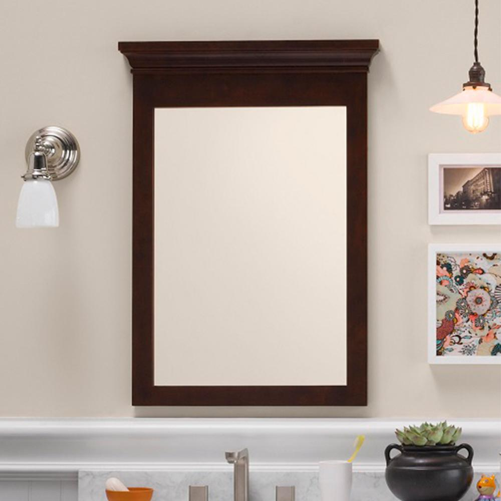 24 Quot Bryant Transitional Solid Wood Framed Bathroom Mirror