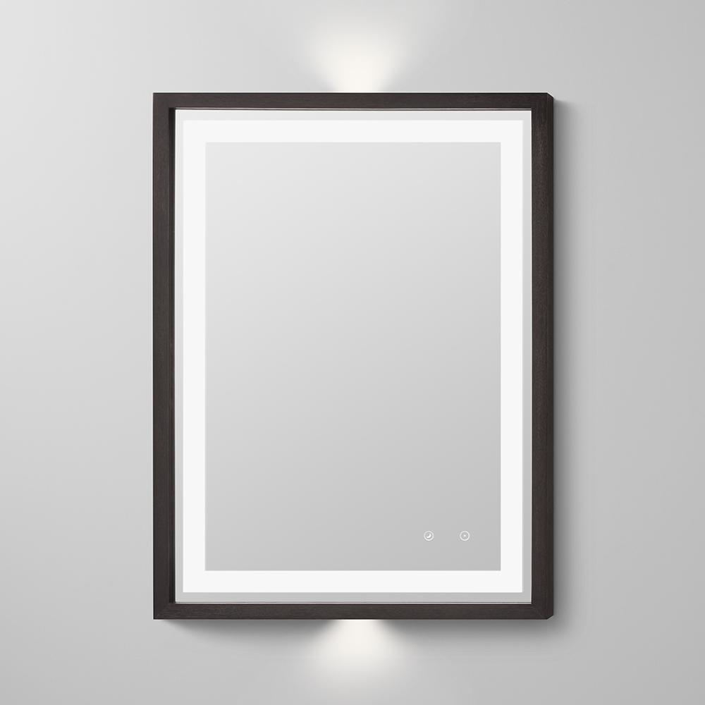 wood frame bathroom mirror 30 quot albert contemporary solid wood framed bathroom led mirror 21698