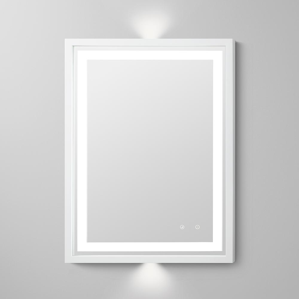 30 Quot Albert Contemporary Solid Wood Framed Bathroom Led Mirror