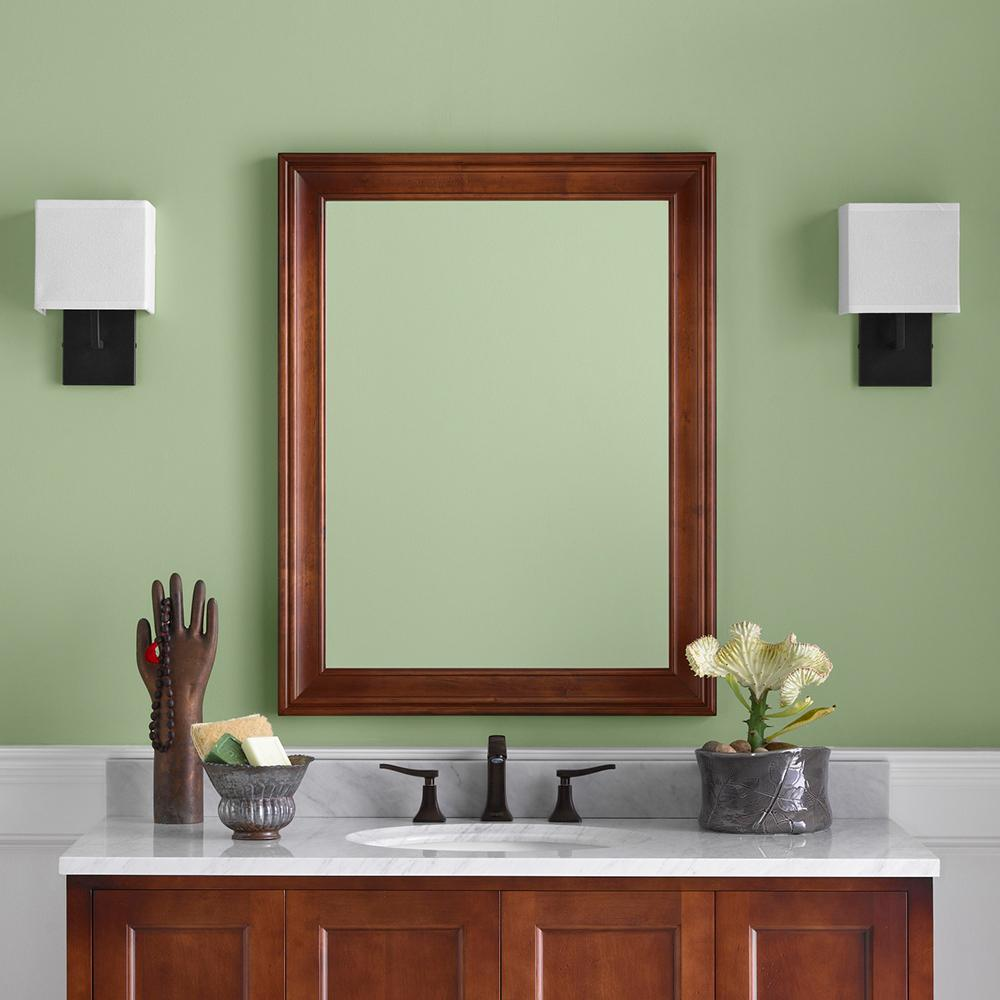 27 quot william traditional solid wood framed bathroom mirror 15214