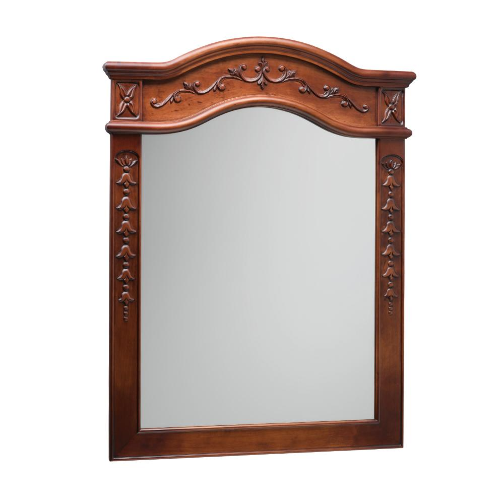 30 Quot Bordeaux Traditional Solid Wood Framed Bathroom Mirror