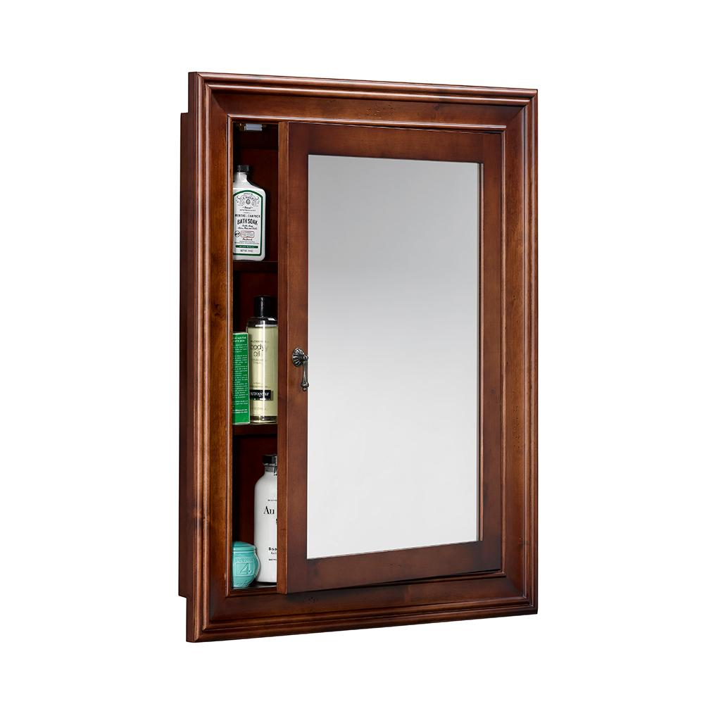 27 Quot William Traditional Solid Wood Framed Medicine Cabinet