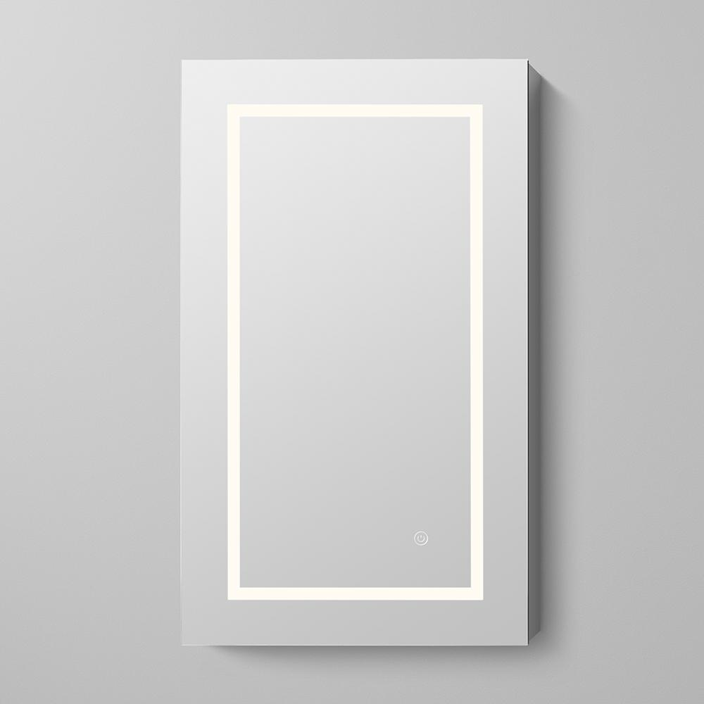 marquee rectangular frameless led medicine cabinet in satin aluminum noreviews.  marquee rectangular frameless led medicine cabinet in satin