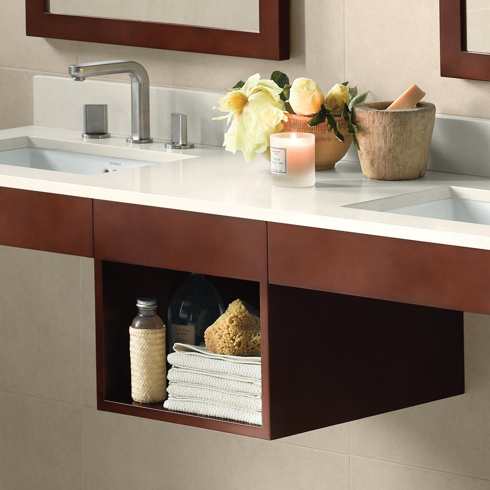 Shop WallMounted Bathroom Vanity Shelf Bridges Ronbow - Bathroom vanities with shelves