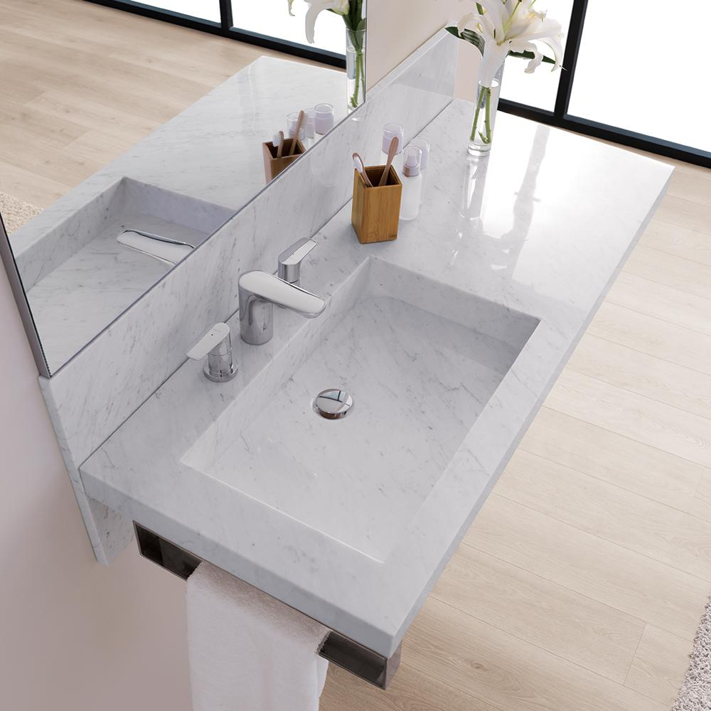 47 Quot Free Floating Plane Marble Sinktop