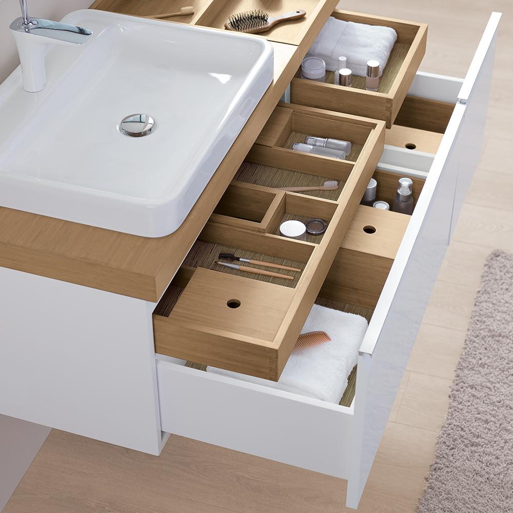 31 Quot Free Vanity Cabinet With Double Drawers In White