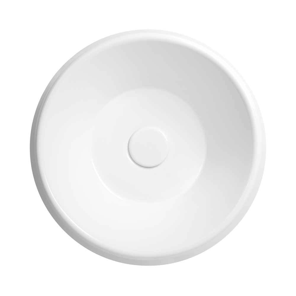 15 Quot Radius Round Above Counter Ceramic Vessel Sink Without