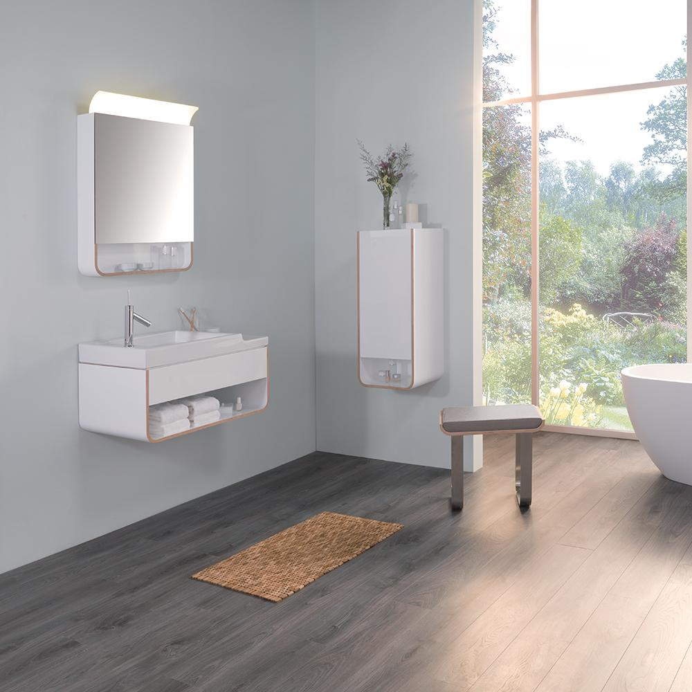 31 Quot Unity Bathroom Vanity Wall Hung In Glossy White