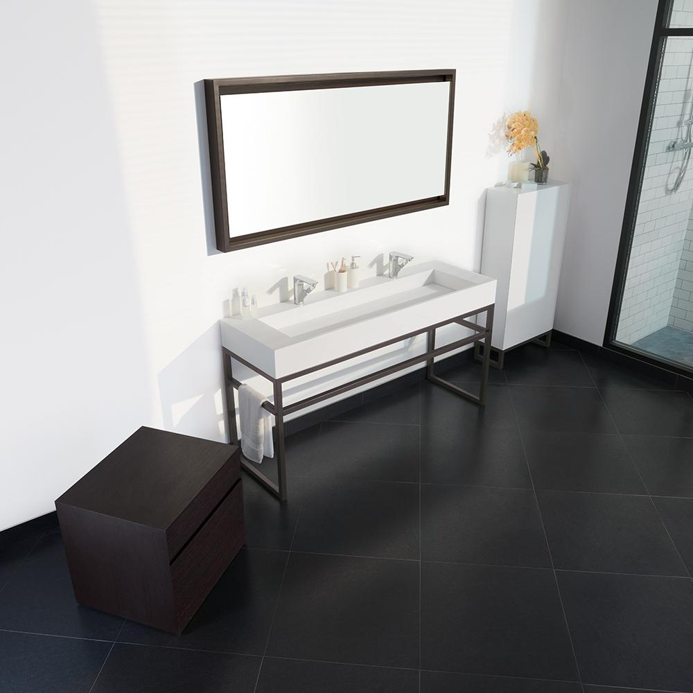 Metal Bathroom Vanity Black Metal Bathroom Vanity