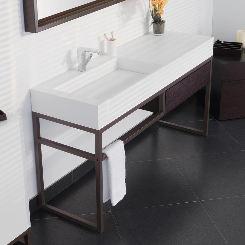 63 Quot Marco Rectangular Solid Surface Sinktop With Double