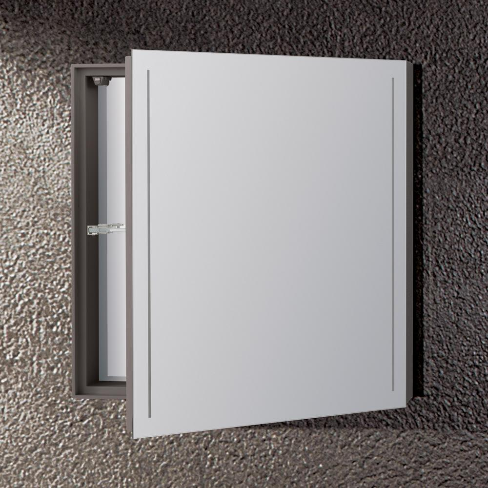 20 Quot Waterspace Square Mirror Cabinet With Led