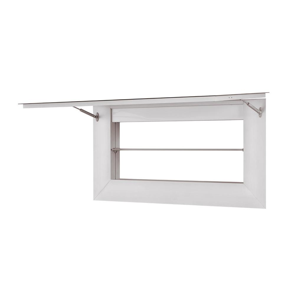 42 Quot Vento Mirror Cabinet With Led In Satin Aluminum
