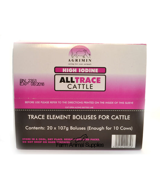 Agrimin High Iodine AllTrace Cattle - 20 Pack