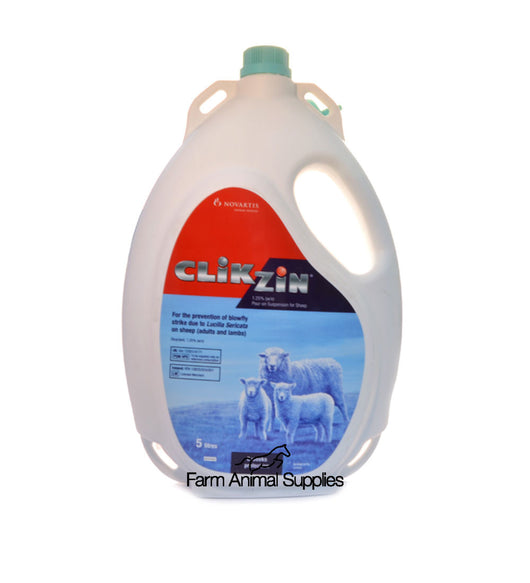 Clikzin 1.25% Pour On Suspension for Sheep - 5L
