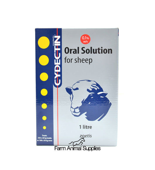Cydectin 0.1% Oral Drench For Sheep - 1L, 2.5L or 5L