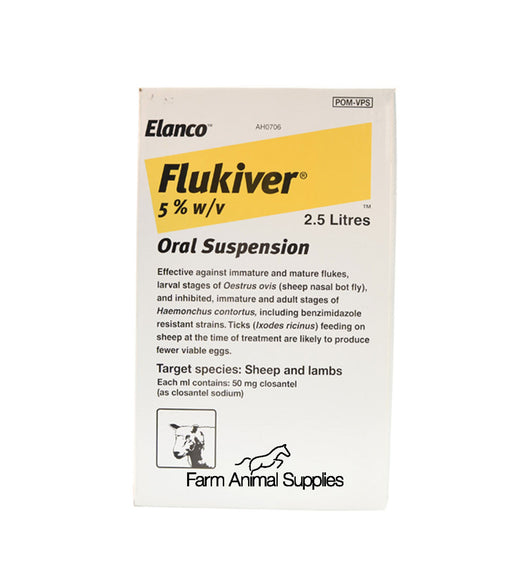 Flukiver Fluke Drench Sheep - 1L, 2.5L or 5L