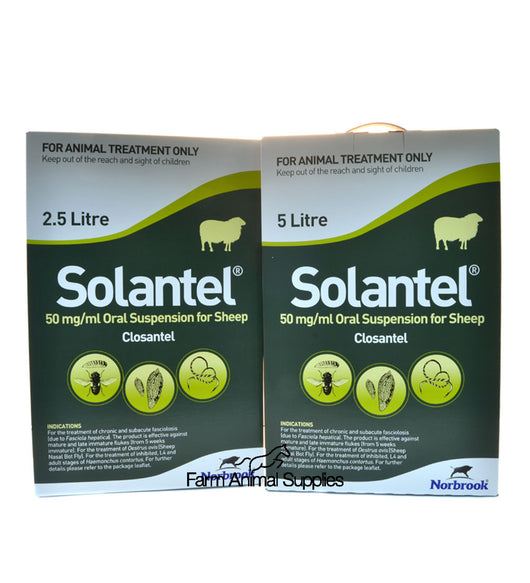 Solantel (Closantel) Oral Suspension for Sheep - 2.5L or 5L