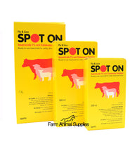 Spot-On Cattle & Sheep - 250ml, 500ml or 1L (NOT FOR USE ON PIGS OR HORSES)