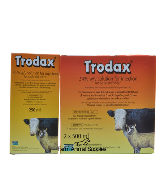 Trodax 34% Injection Cattle & Sheep - 250ml or 1L