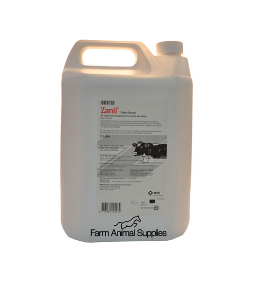 Zanil Fluke Drench for Cattle and Sheep - 5L
