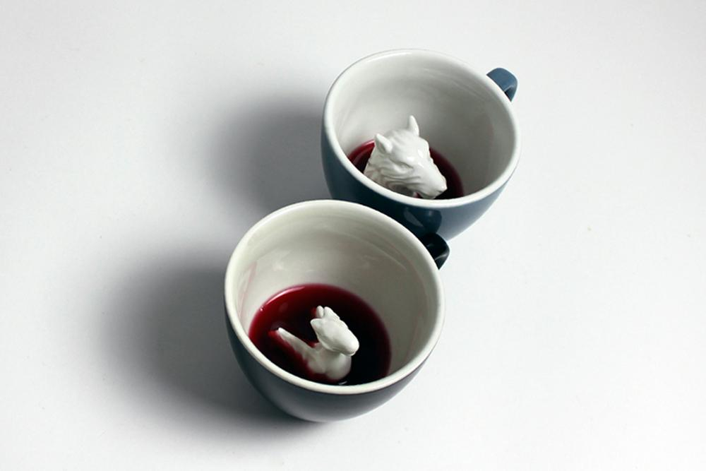 The Dragon & The Wolf (2-cup Set) Dragon and Wolf  - Creature Cups