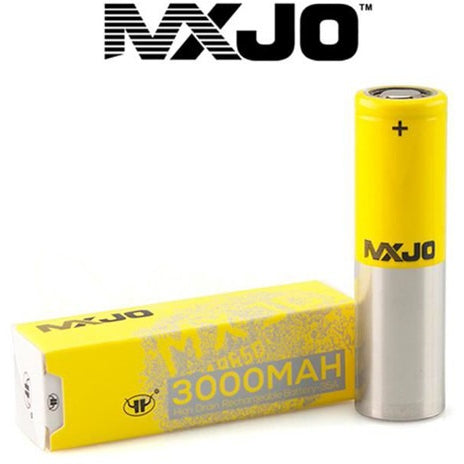 mxjo 18650 yellow/silver 3000mah 35a - regular