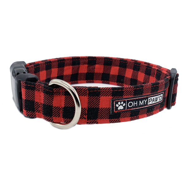 Buffalo Plaid Collar Oh My Paw'd
