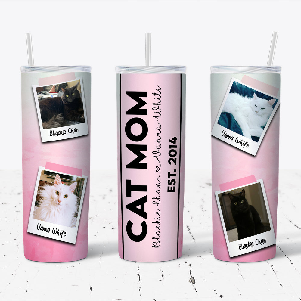 Personalized Cat Mom Tumbler