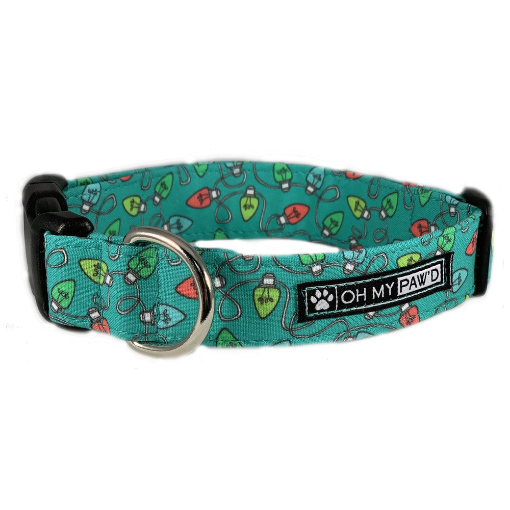 Christmas Lights Dog Collar