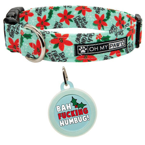 Bah Humbug Dog Collar