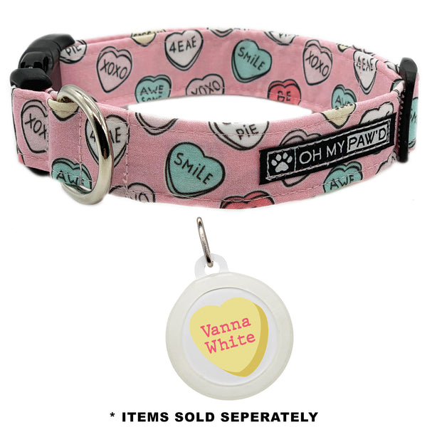 Candy Hearts Dog Collar