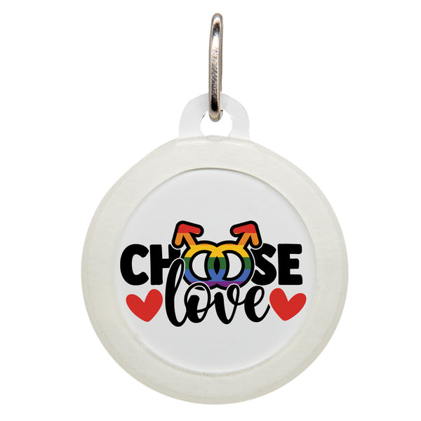 Choose Love Dog ID Tag