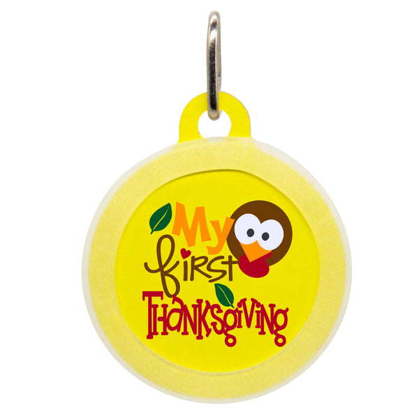 My First Thanksgiving Dog ID Tag