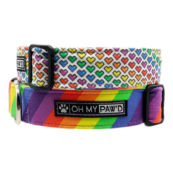 Rainbow Stripe Dog Collar