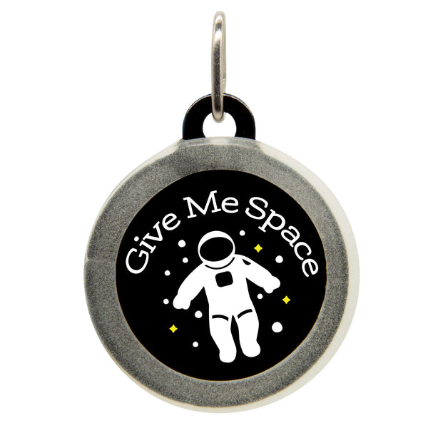 Give Me Space Dog ID Tag