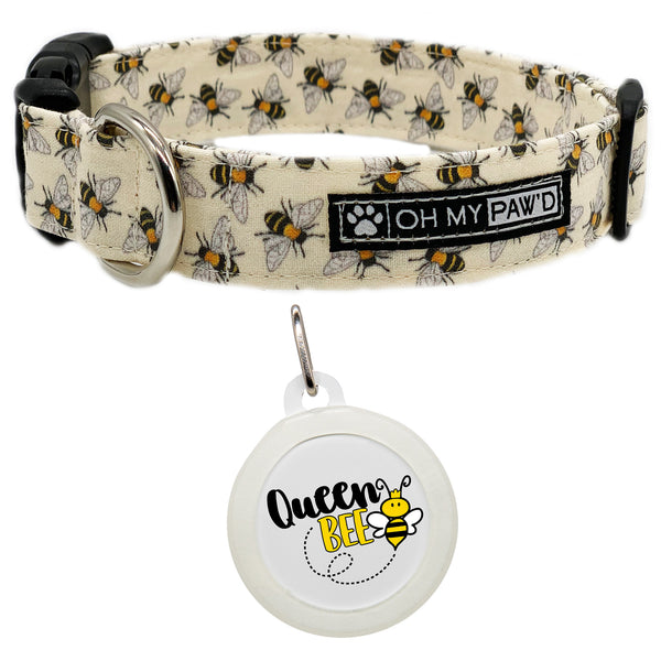 Honey Bee Dog Collar