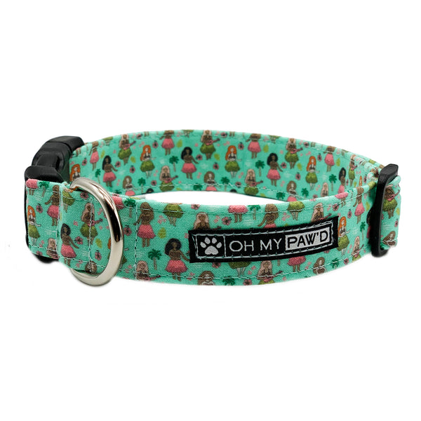 Hula Girl Dog Collar