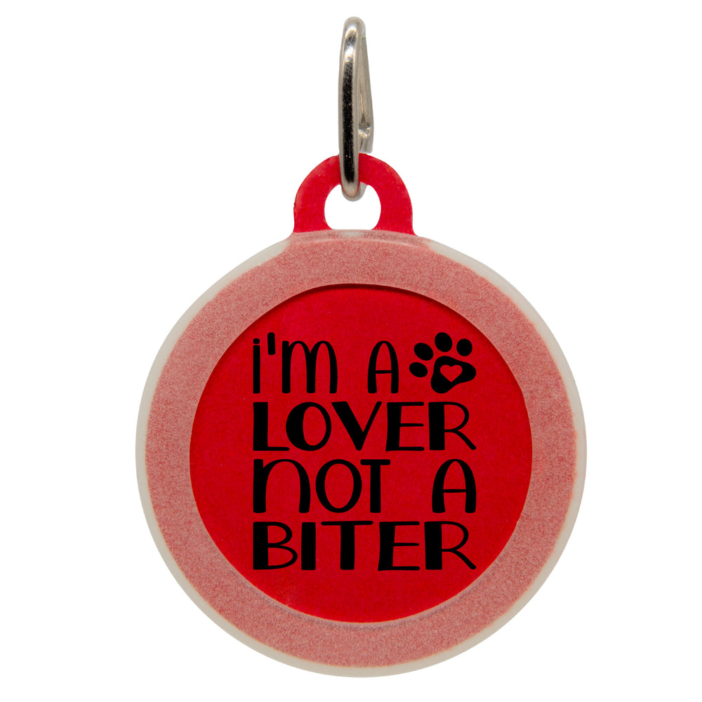 I'm a Lover Not a Biter Dog ID Tag