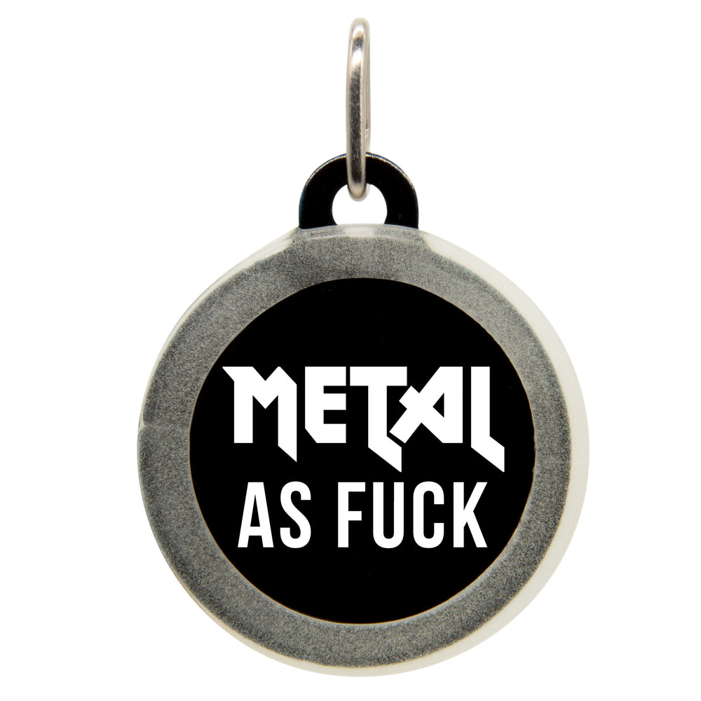 Metal As Fuck Dog ID Tag