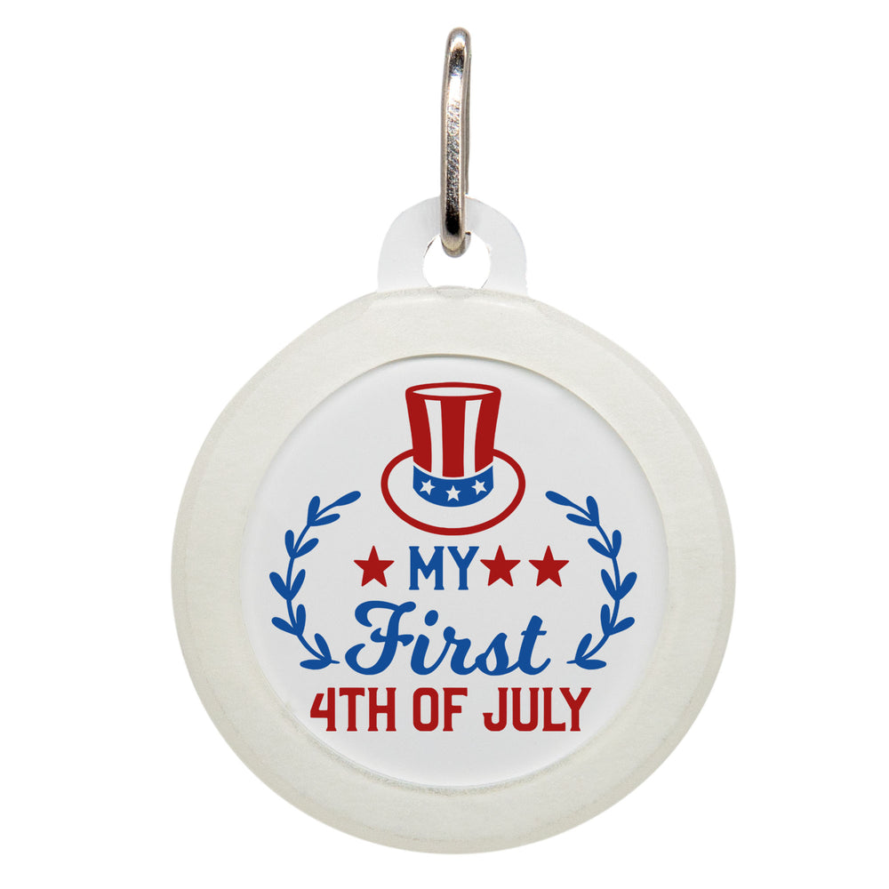 My First 4th of July Dog ID Tag