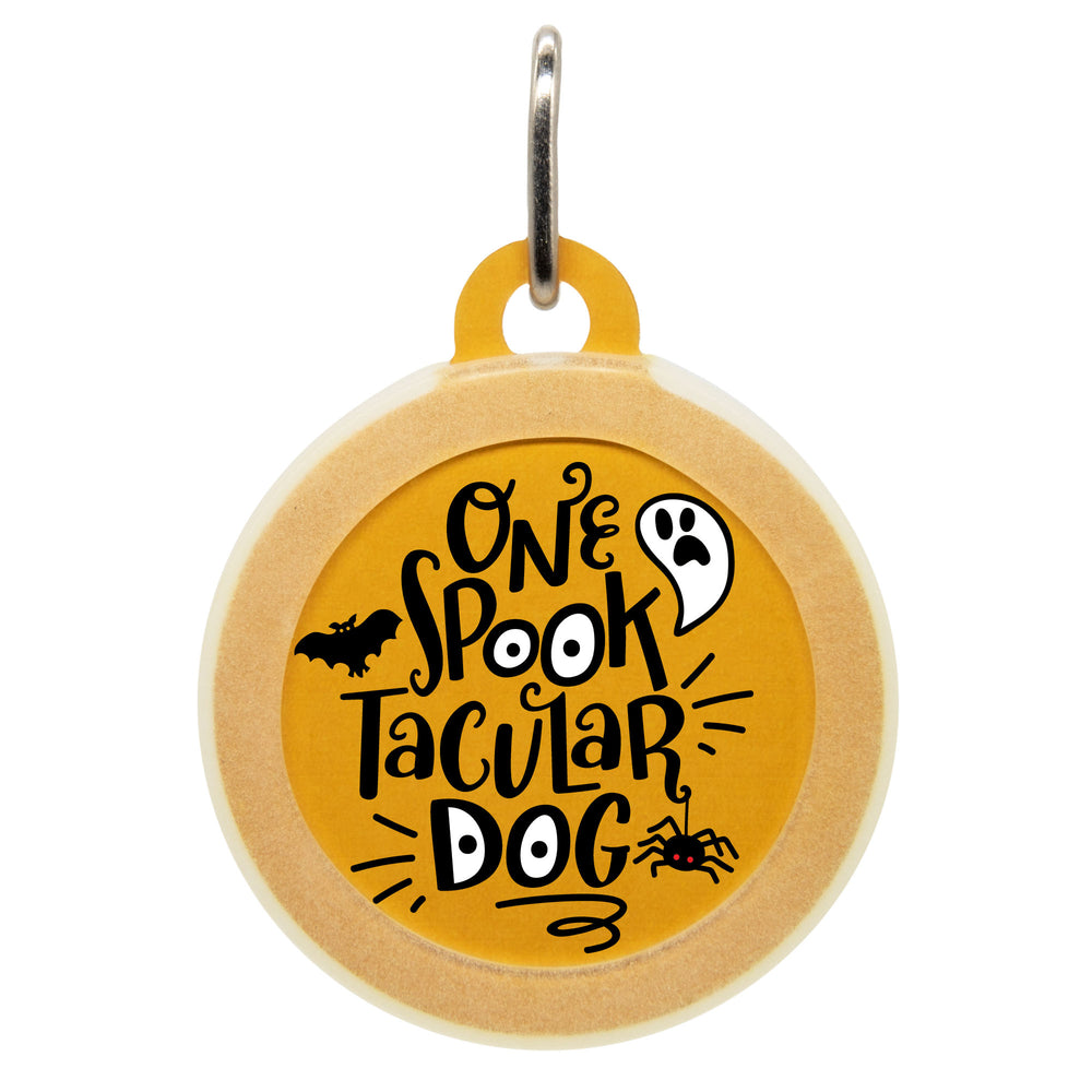 One Spooktacular Dog ID Tag