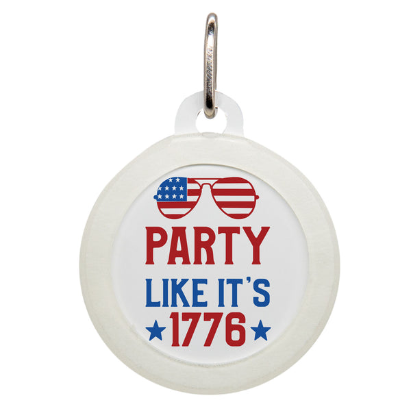 Party Like It's 1776 Dog ID Tag