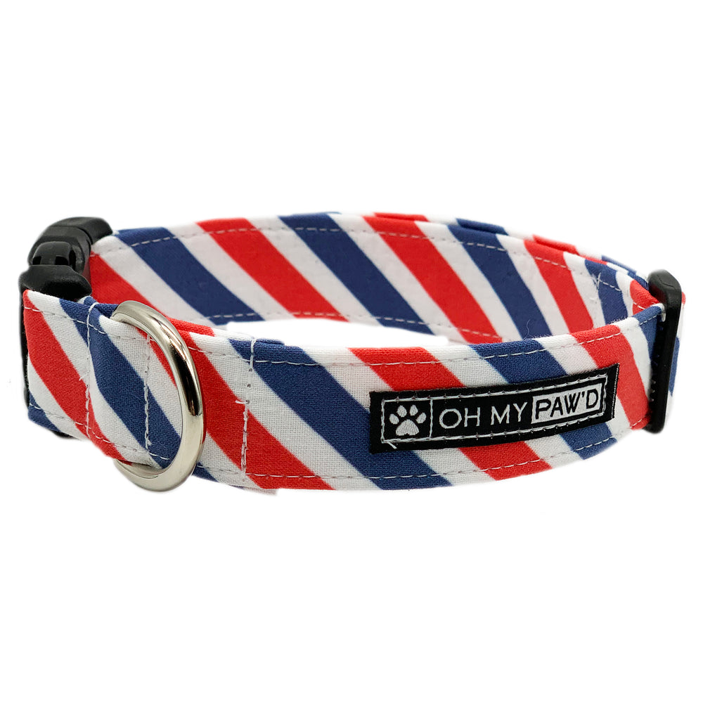 Patriotic Stripe Dog Collar