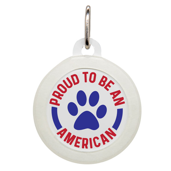 Proud To Be An American Dog ID Tag