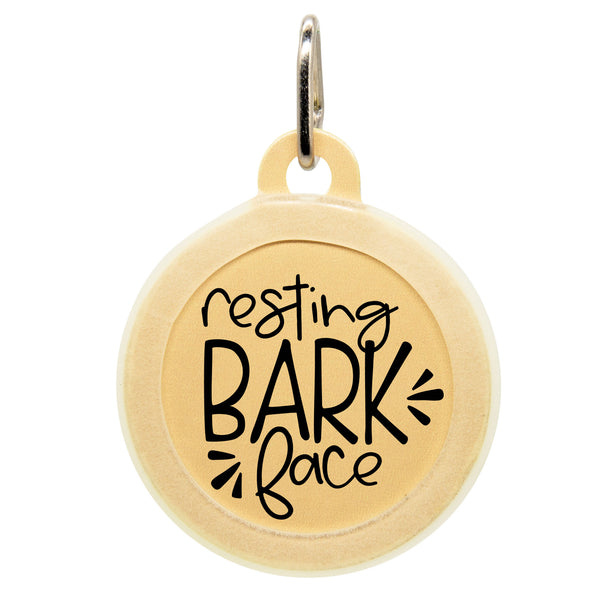 Resting Bark Face Dog ID Tag