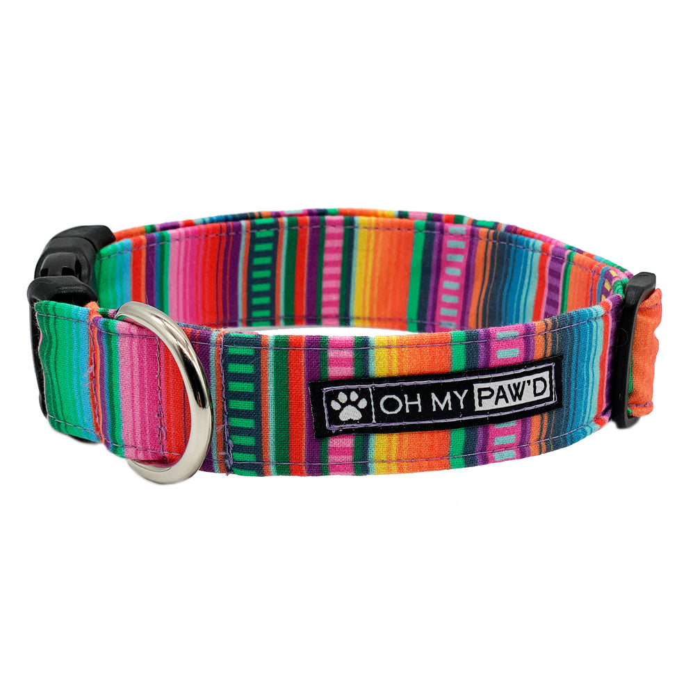 Serape Fabric Dog Collar